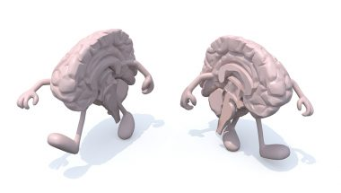Split brain: One side a believer in god, the other not!