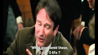 Why do we read and write poetry? (Dead Poets Society)