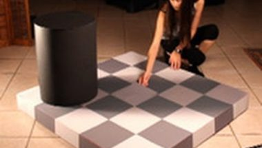 Checker board shade illusion
