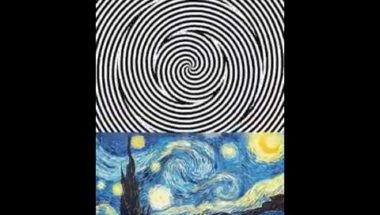 "Van Gogh's ""Starry Night"" comes to llife ..."