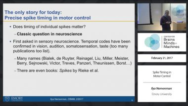 Spike Timing in Motor Control