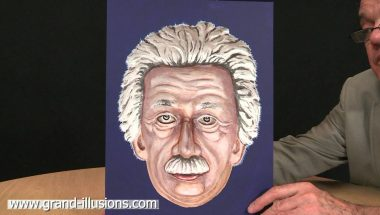 Painted Einstein Hollow Face Illusion